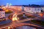 Советская площадь и Фарный костел в Гродно