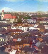 Гродно. Фрагмент панорамы центральной части города. Фото 30-х годов.