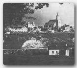 Гродно. Вид на центральную часть города. На переднем плане долина Городничанки. Фото середины 30-х годов.