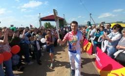Огонь II Европейских игр в Волковыске