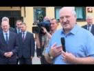 Александр Лукашенко в Ивье. Общение с горожанами